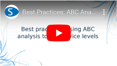Best Practices ABC Analysis to set service levels