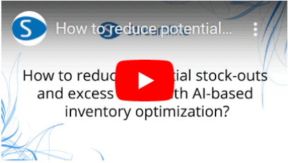 How to reduce potential stock-outs and excess stock with AI-based inventory optimization?