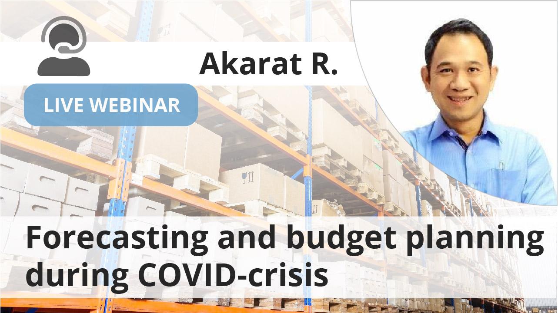 Previsão e planejamento de orçamento durante a crise do COVID