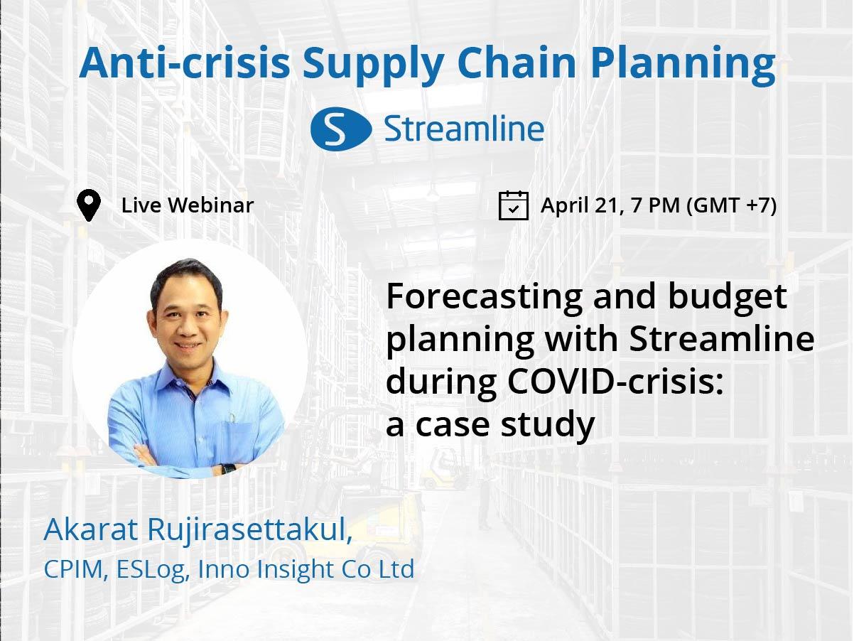 Foto des Sprechers von Forecasting und Budgetplanung mit Streamline während des COVID-Krisen-Live-Webinars