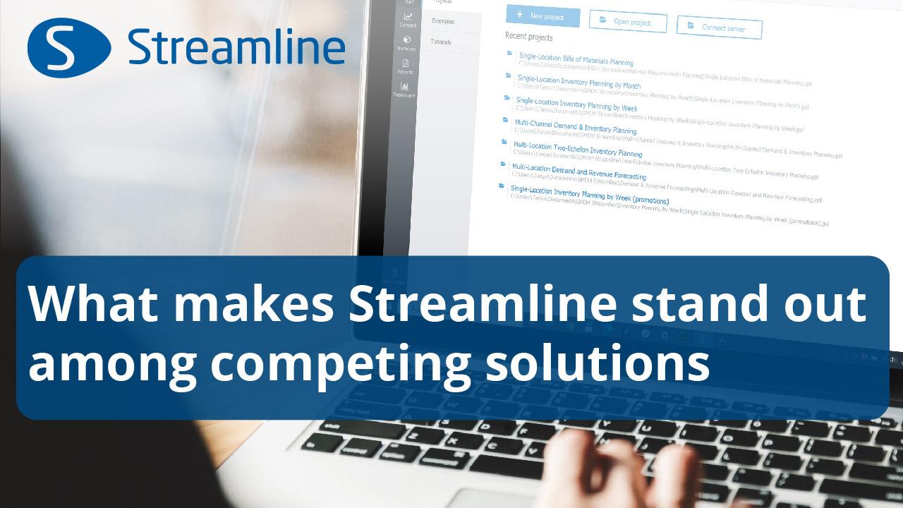 Was unterscheidet Streamline von konkurrierenden Lösungen?